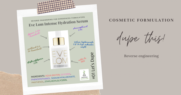 Let's Dupe: Eve Lom Intense Hydration Serum