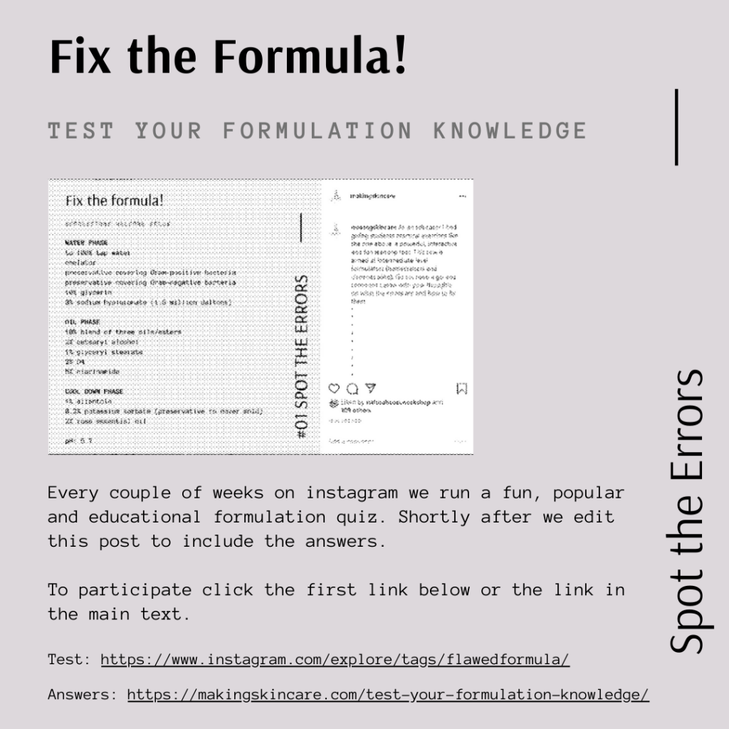 formulation exercise test
